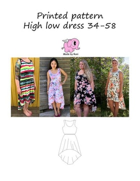 Made by Runi´s High low dress dam, stl. 34 - 58