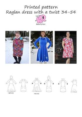 Made by Runi´s Raglan dress with a twist, stl. 34-54