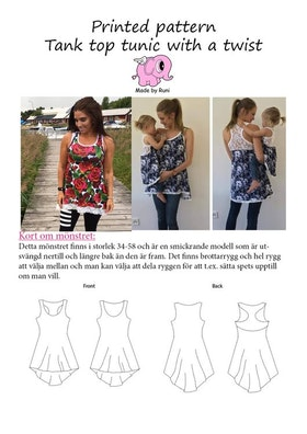 Made by Runi´s Tank top tunic with a twist dam, stl. 34 - 58