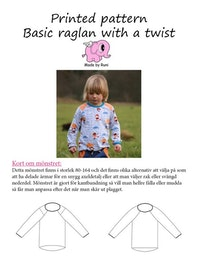 Made by Runi´s Basic Raglan with a twist barn stl. 80-164