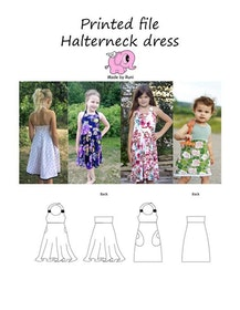 Made by Runi´s Halterneck dress paket, barn + dam
