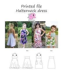 Made by Runi´s Halterneck dress paket, barn + dam