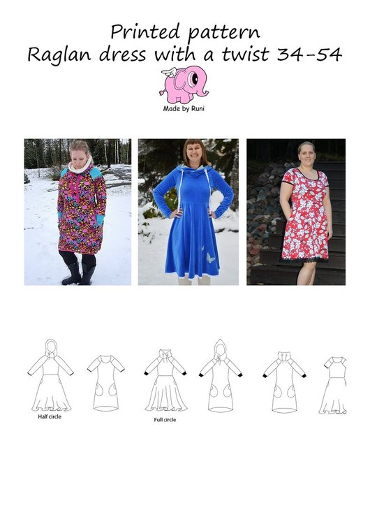 Made by Runi´s Raglan dress with a twist paket, barn + dam