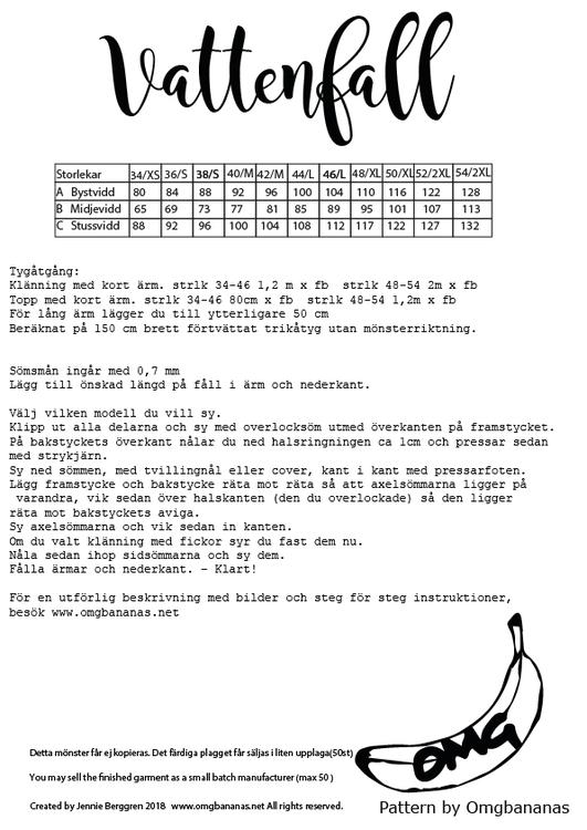 OMG Bananas Vattenfall stl. 34 - 54