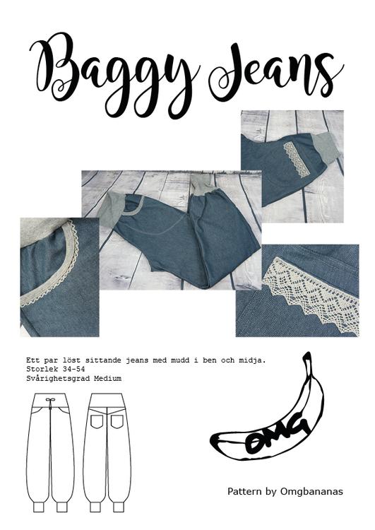 OMG Bananas Baggy jeans stl. 34 - 54