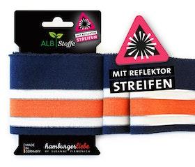 Hamburger Liebe's Cuff Me Reflektor mörkblå, vit och orange
