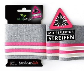 Hamburger Liebe's Cuff Me Reflektor grå, rosa och vit