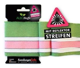 Hamburger Liebe's Cuff Me Reflektor Grön, rosa och vit