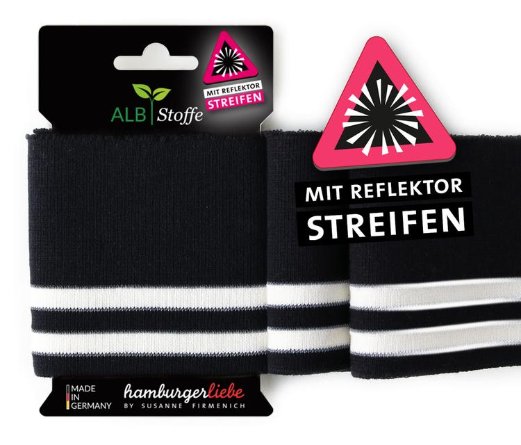 Hamburger Liebe's Cuff Me Reflektor Svart och vit
