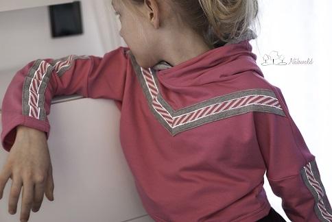 Hamburger Liebes stripes Reflektor Gråa med rosa och vita ränder