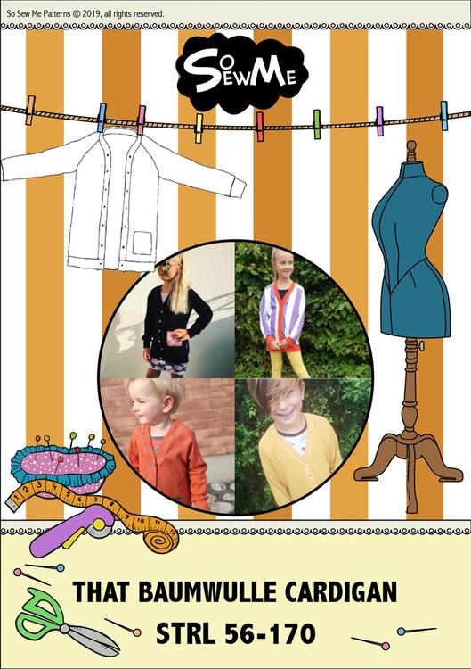 So Sew Me's That BaumwULLE Cardigan stl. 56 - 170