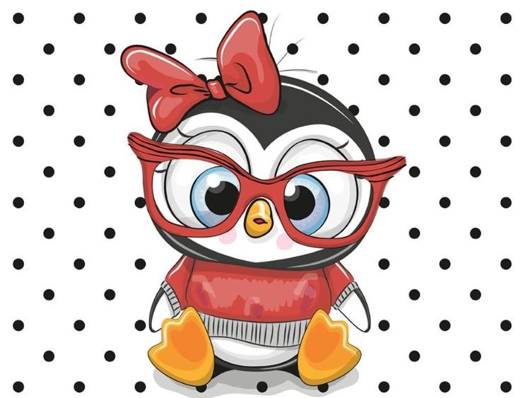 Pingvin med glasögon Panel