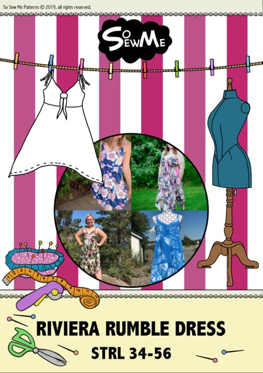 So Sew Me's Riviera Rumble Dress stl. 34 - 56
