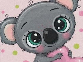 Koala på rosa botten panel joggingtyg