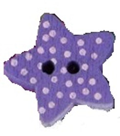 Lila Stjärnformad träknapp två hål