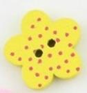 Gul Blomformad träknapp två hål