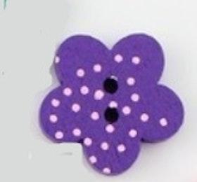 Lila Blomformad träknapp två hål