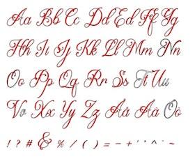Egen text Typsnitt Beauty Lova