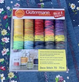 GÜTERMANN Deco Stitch sytråd 70 m, 10 olika färger
