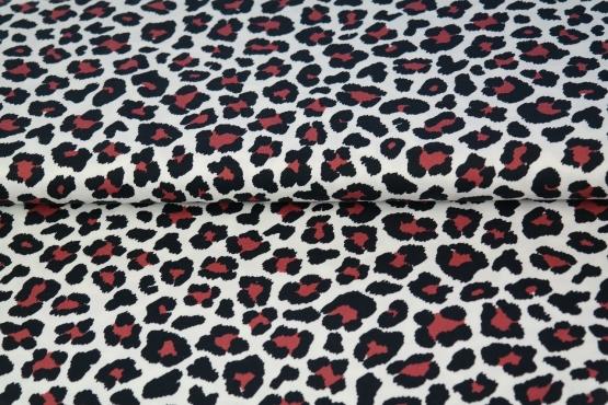 Leopard mönstrad jersey vit med röda fläckar