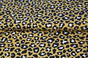 Leopard mönstrad jersey gul med vita fläckar