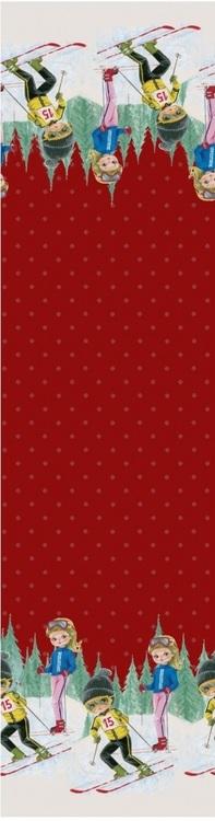 Skidåkare jersey röd bakgrund