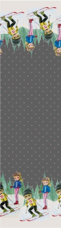 Skidåkare jersey grå bakgrund