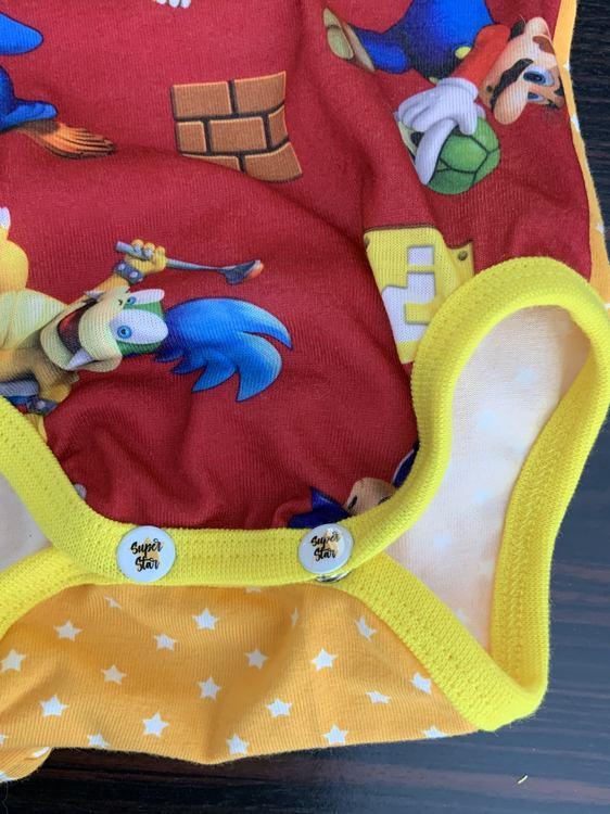 Body med Super Mario stl. 62/68