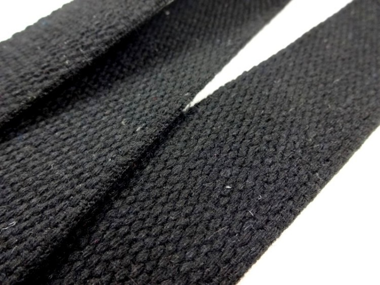 Väskband svart 30 mm