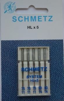 Schmetz Symaskinsnålar 75/11 \ 90/14 (HLx5)