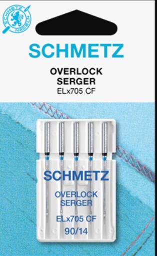 Schmetz Symaskinsnålar Overlock 90/14 (ELx705 SUK CF)