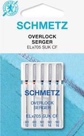 Schmetz Symaskinsnålar Overlock 80/12 \ 90/14 (ELx705 SUK CF)