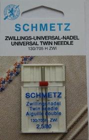 Schmetz Symaskinsnålar Tvilling Universal 2,5/80 (130/705 H ZWI)