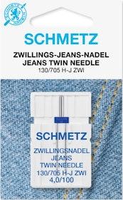 Schmetz Symaskinsnålar Tvilling Jeans 4,0/100 (130/705 H-J ZWI)