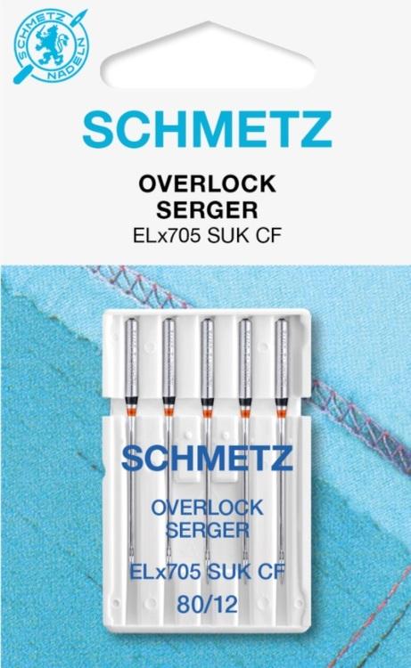 Schmetz Symaskinsnålar Overlock 80/12 (ELx705 SUK CF)