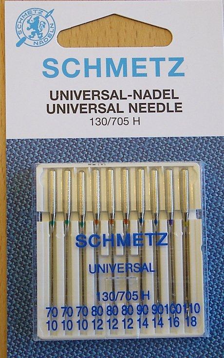 Schmetz Symaskinsnålar Universal 70/10 \ 110/18 (130/705 H) 10-pack