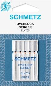 Schmetz Symaskinsnålar Overlock 80/12 (ELx705)