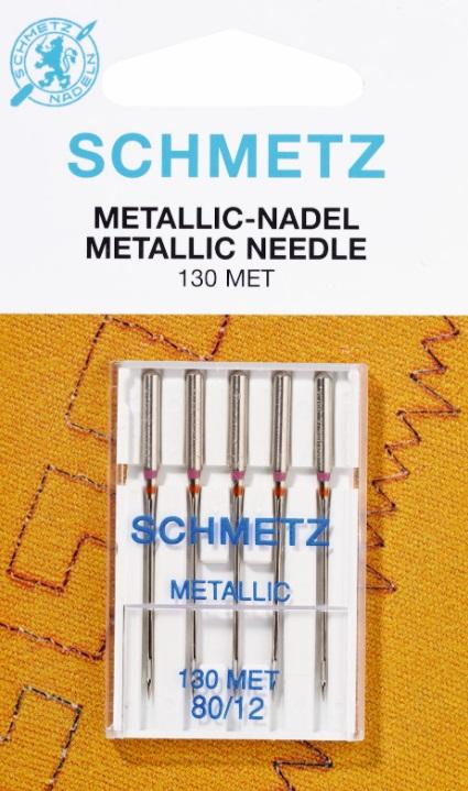 Schmetz Symaskinsnålar Metallic 80/12 (130 MET)