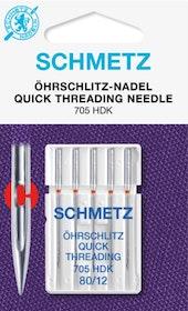 Schmetz Symaskinsnålar Snabbpåträdning 80/12 (705 HDK)
