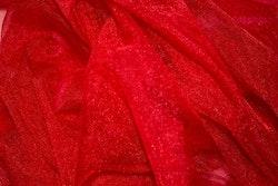 Röd glittertyll