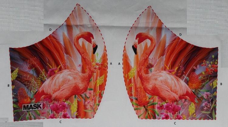 Flamingo, tyg för ansiktsmask