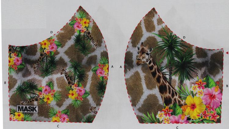 Giraff, tyg för ansiktsmask