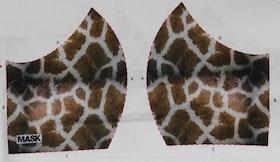 Giraffmönstrat tyg för ansiktsmask