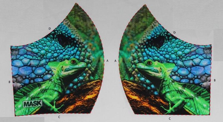 Kameleont, tyg för ansiktsmask