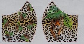 Leopard, tyg för ansiktsmask