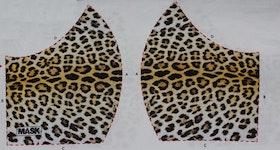 Leopardfläckar, tyg för ansiktsmask