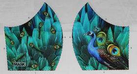 Påfågel, tyg för ansiktsmask