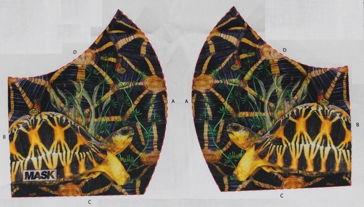 Sköldpadda, tyg för ansiktsmask