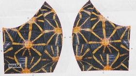 Sköldpaddemönster, tyg för ansiktsmask