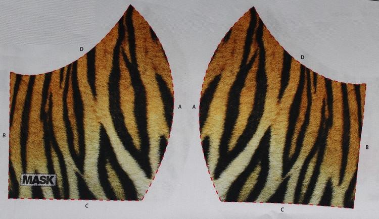 Tigerränder, tyg för ansiktsmask